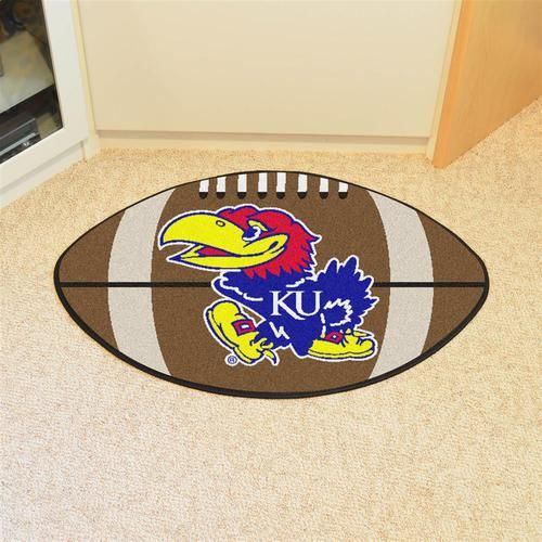 Kansas Jayhawks KU Football Floor Rug Mat