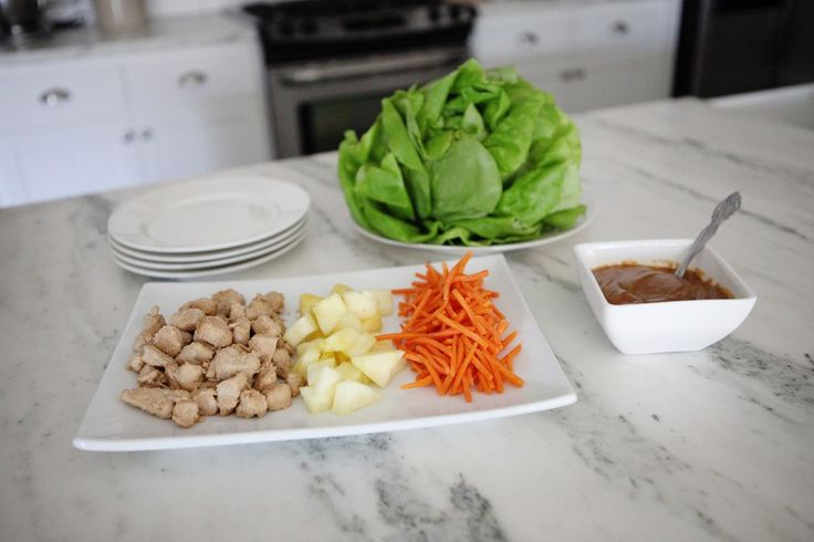 Clean eating thai chicken lettuce wraps recipe - jenny collier blog