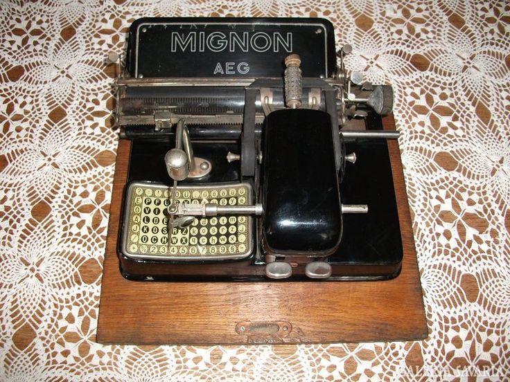 MIGNON antik írógép 1920-as évek
