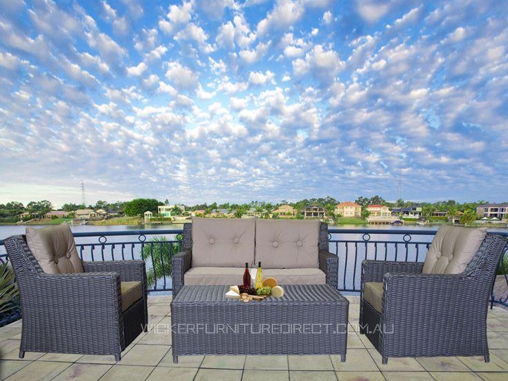 Azara 4 Seater Wicker Outdoor Furniture Lounge