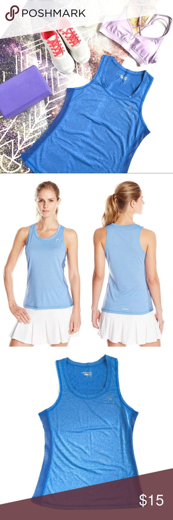 "HEAD Mesh Winged Active Tank in Heathered Sky, S Basics don't have to be basic with this awesome athletic tank top from HEAD, featuring a heathered skyblue body with meshed-out side panels for supreme breathability and air transfer. Scoop neck, sweat-wicking material. Size S, fits true to size, measures approx 15.5"" across chest, 24.5"" long. Brand new, never worn, NWOT. Please feel free to make an offer, bundle for greater discount, or ask any questions! :) HEAD Tops Tank Tops"