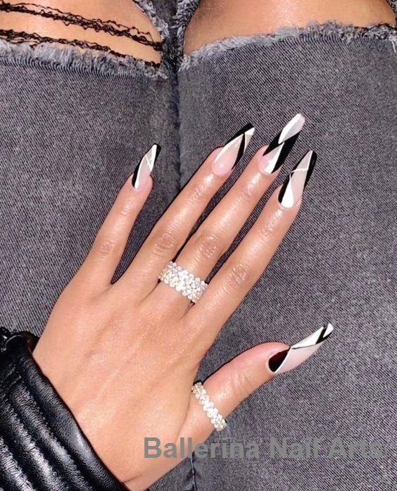 Angesagte Designs in Ballerina nails #nailartideas #naildesign