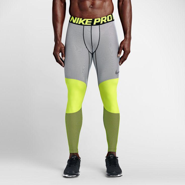 Nike Pro Hyperwarm Lines Compression Men's Tights. Nike.com