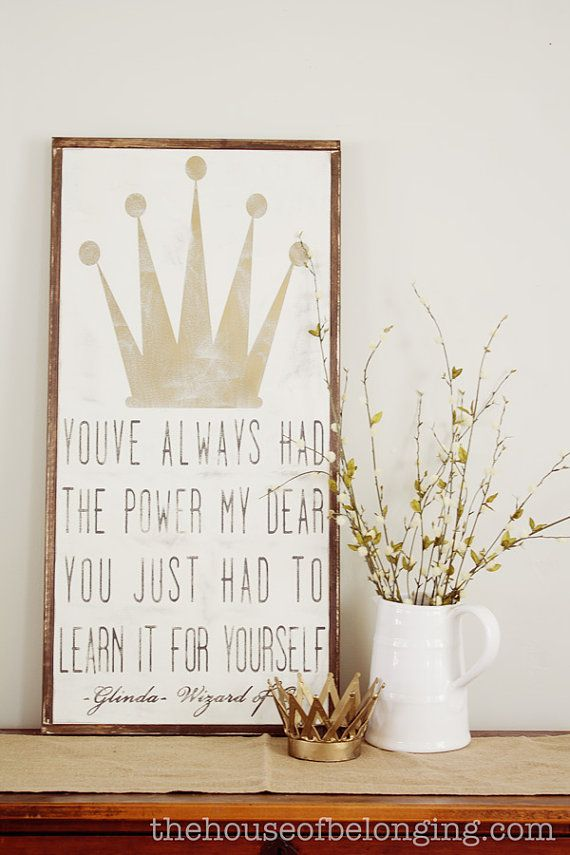 Glinda framed sign customizable by TheHouseofBelonging on Etsy, $100.00