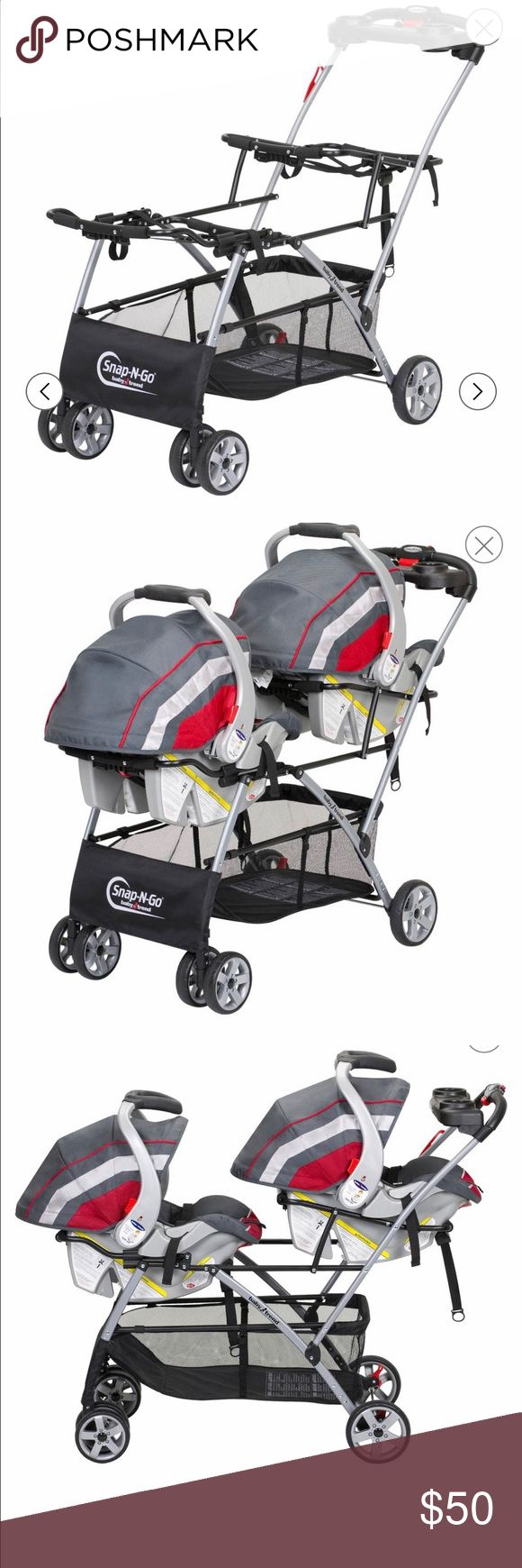 Baby Trend Universal Snap n Go Double(For twins) Double stroller for two babies(snap baby trend and graco infant car seats in this stroller) car seats not included Baby Trend Other