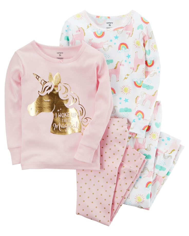 Toddler Girl 4-Piece Snug Fit Cotton PJs | Carters.com
