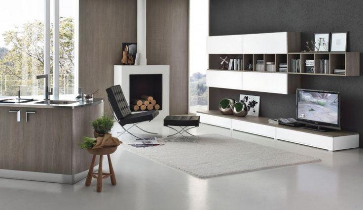 Zona living open space moderna e funzionale