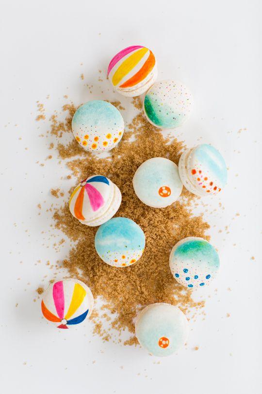 DIY beach macarons | sugar & cloth #glossaryofmacs