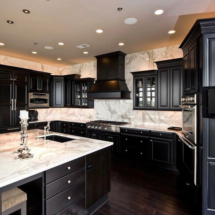 Not sure about the dark cabinets, but it is pretty!