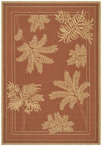 "Del Rey Area Outdoor Area Rug, 5'3""x7'6"", TERRA NATURAL by Home Decorators Collection. $79.00. This outdoor area rug offers a neutral, transitional design with a pattern of palm fronds that is sure to add an intersting look to any space in your home. Whether for your porch, patio, deck or even inside your home in your living room, you are sure to love having this easy-to-clean, synthetic rug as a part of your decor. Order yours today. Crafted of synthetic materials ..."