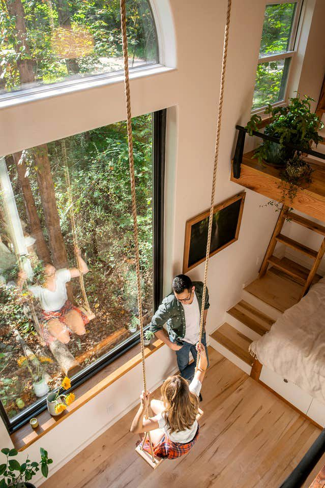 Exquisite Handcrafted Tiny House Near Asheville Perfect For Glamping In North Carolina In 2020 Tiny Houses For Rent Tiny House American Architecture