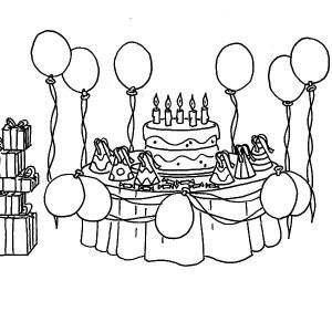 Mickey Mouse Bring Balloons For Birthday Party Coloring Pages