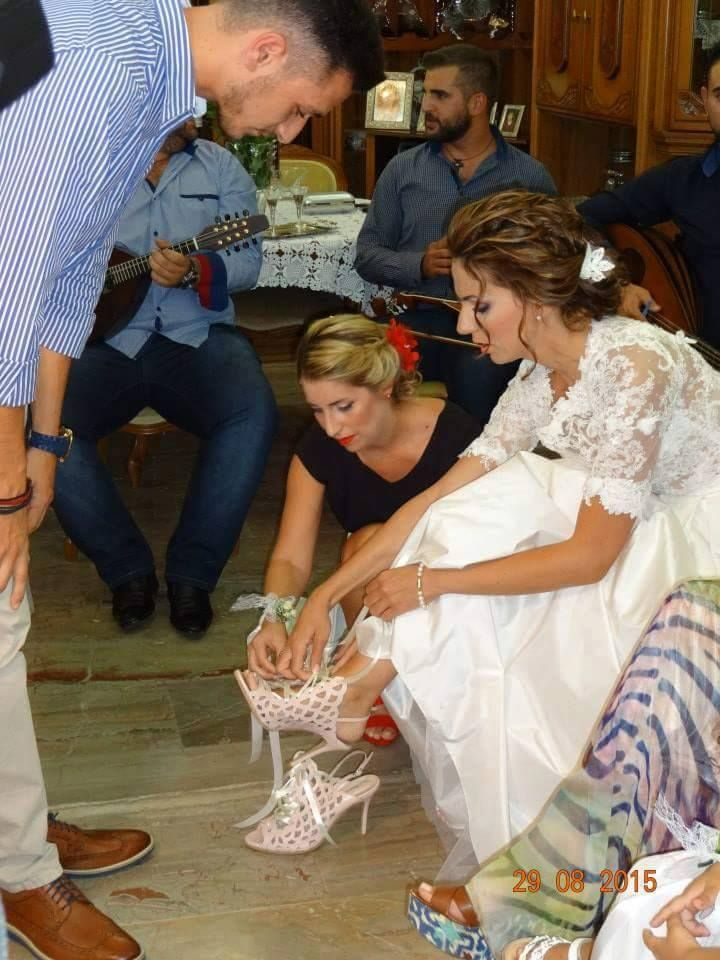 sideris shoes traditional wedding in crete