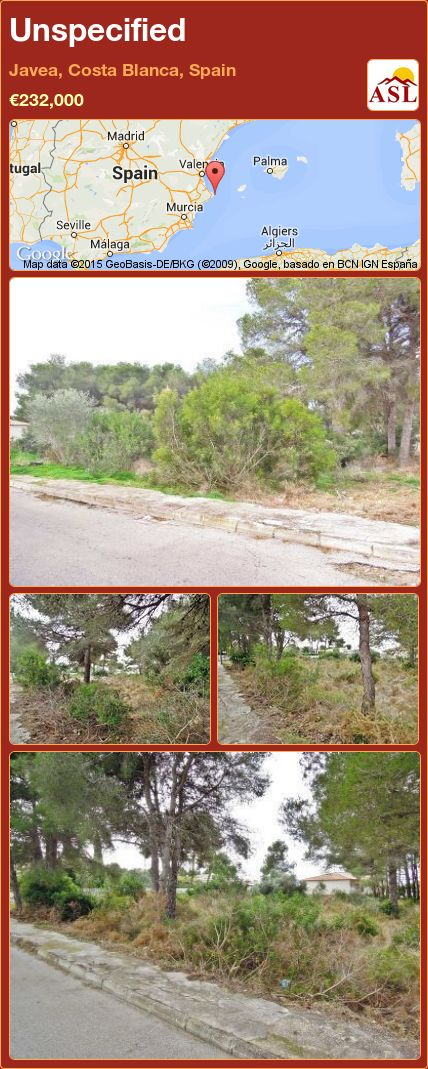Unspecified in Javea, Costa Blanca, Spain ►€232,000 #PropertyForSaleInSpain