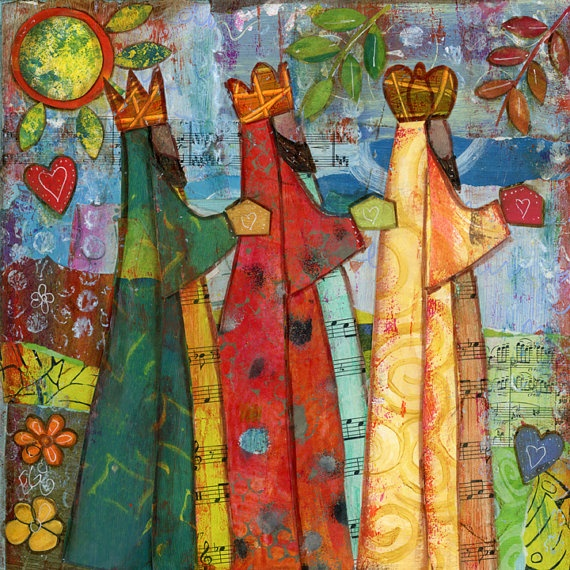 Three Wise Men in a 6x6 Ceramic Tile by elizabethglz on Etsy, $18.00