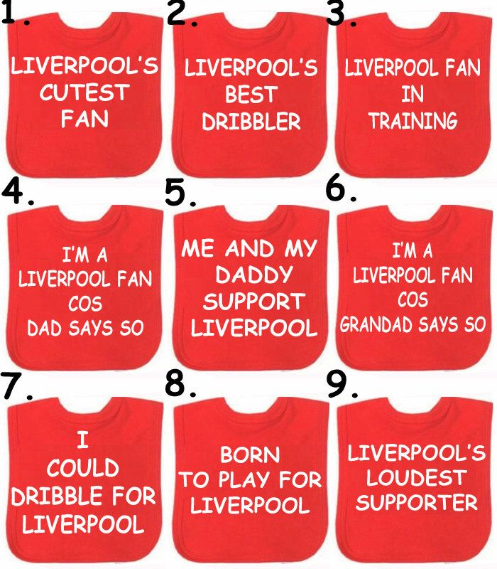 2 x bibs Liverpool Man Utd Arsenal Football bib Choose a slogan or any team in the world or DESIGN YOUR OWN by BABYGROWSTREET on Etsy