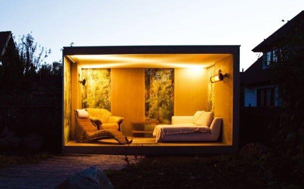Una compañía británica produce un tipo de caseta de jardín que posee un diseño moderno, y que es ideal para ampliar las posibilidades sociales de las casas.
