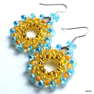 art, crafts and beads: Free Tutorial - Earrings JOY with Preciosa Farfalle Beads