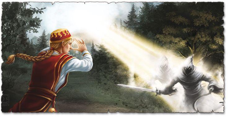 Burn Hesthot, burn: Wenn Praioten karmalzaubern, dann brennen die Dämonen! (Bild von Elif Siebenpfeiffer). Praois, Geweihter, Dämon, Heshtod