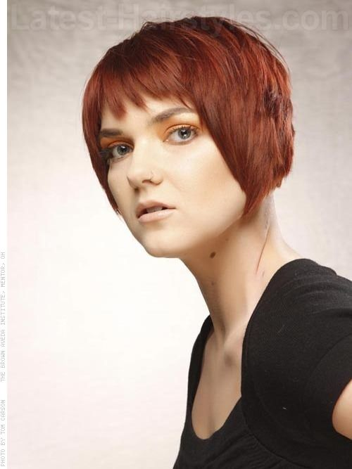 pictures of with haircuts convex layered bob auburn choppy cut a longer 4646