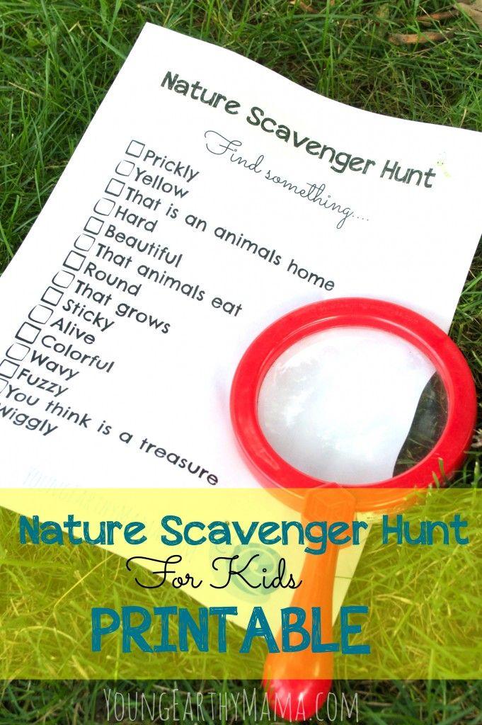 Nature Scavenger Hunt for Kids Free Printable Checklist