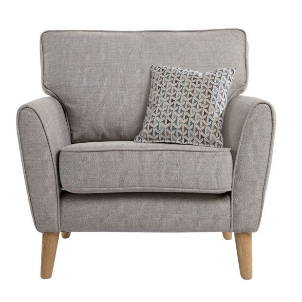 Buy Hygena Olivia Fabric Chair - Light Grey at Argos.co.uk - Your Online Shop for Armchairs and chairs, Living room furniture, Home and garden.