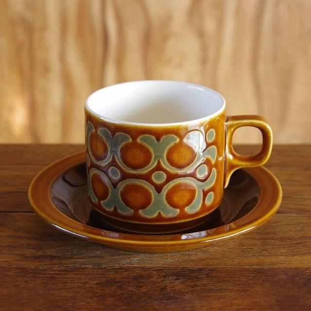 Hornsea Bronte コーヒーカップ ソーサー ホーンジー ブロンテ 180918 1 イギリス製 アンティーク ヴィンテージ レトロ食器 Flohmarkt フローマルクト アンティーク 食器 食器 北欧 食器