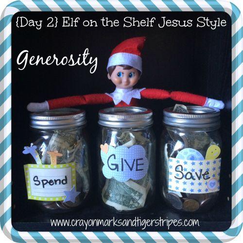 Elf on the Shelf Jesus Style: Biblical Virtues: Generosity | Crayon Marks and Tiger Stripes