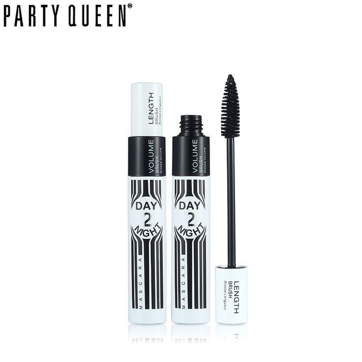 Party Queen Volume Smoky Waterproof Extra Black Mascara Lengthening &Volume Dual Uses Mascara Makeup Long Lasting Curl Eyelashes