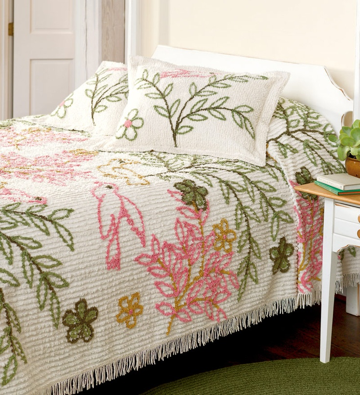 383 best Chenille bedspreads Love them images on Pinterest Bed