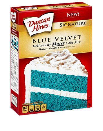 October 18, 2014- Today one of my close friends and I came across this cake mix while we were shopping.  Before now I had never seen a blue velvet cake mix being sold.  It looked awesome, so I will have to try this cake flavor sometime in the future.