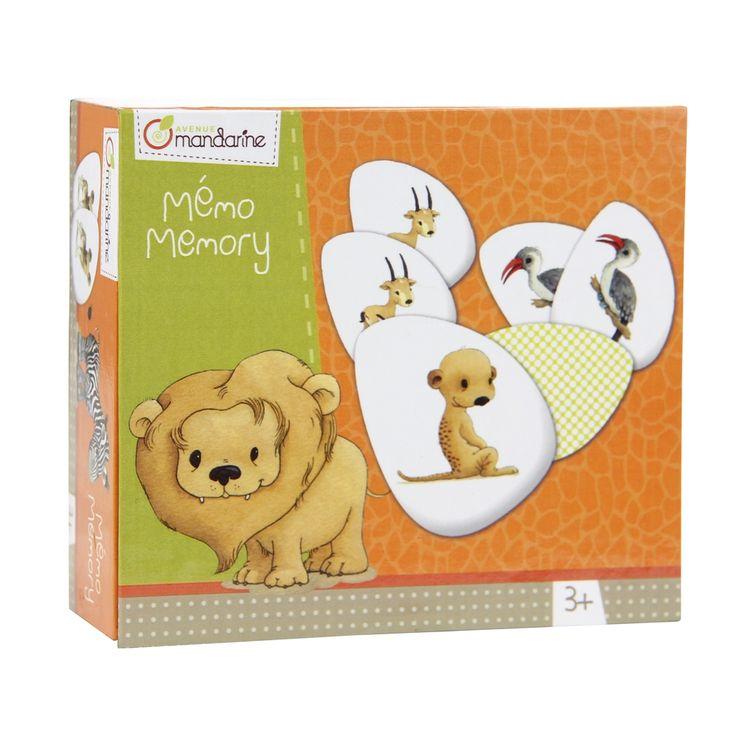 Szavanna állatai memória játék 3 éves kortól - Avenue Mandarine