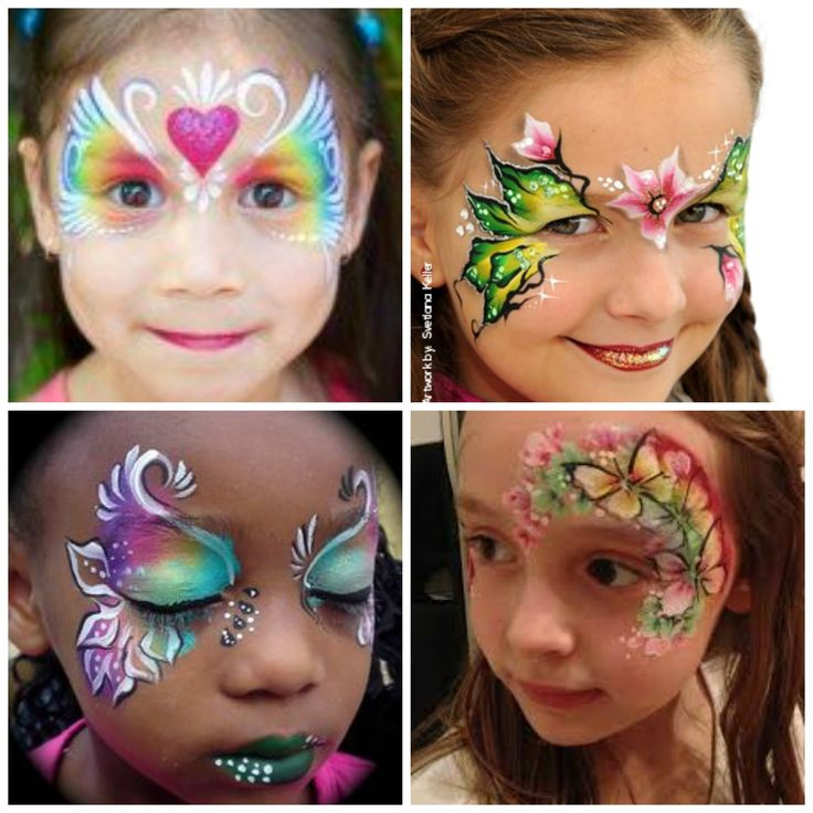984 best images about face paint fairies butterflies for Pretty designs to paint