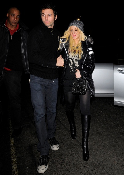 Christina Aguilera steps out with Matt Rutler....random fact: my first kiss ( at the age of 3) was this guys brother!
