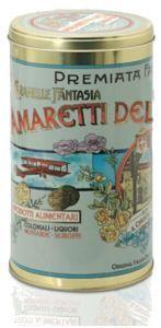 Latta con Amaretti Tradizionali - Chiostro Di Saronno - preparati con albume d'uovo, zucchero e armelline (noccioli di albicocca).