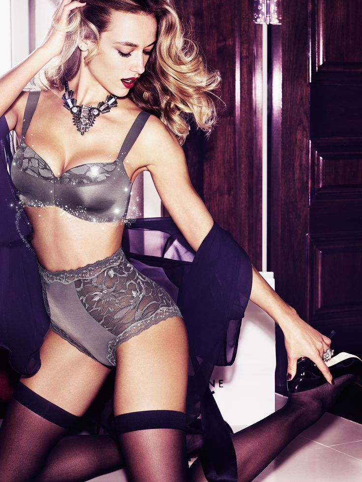 A ravishingly feminine lingerie look, perfect for date night. Photographed: Magic Boost Lift Up bra in mud grey