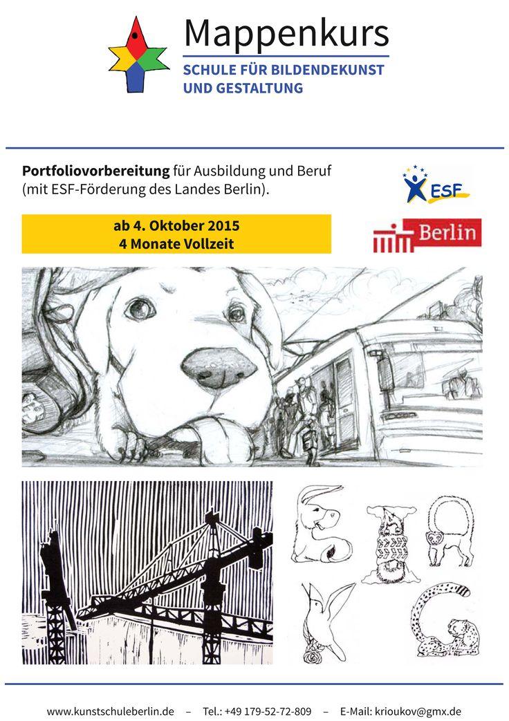 Mappenvorbereitungskurs für Kunst und Designstudiengänge beginnt ab dem 4. Oktober 2015!