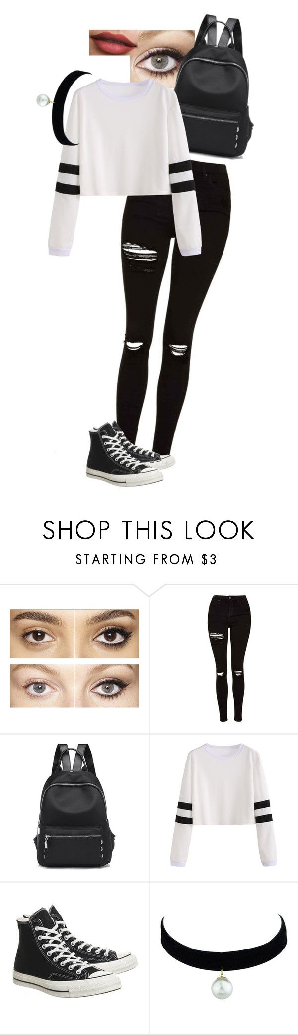 """outfit"" by kaylie203 ❤ liked on Polyvore featuring Charlotte Tilbury, Topshop and Converse"