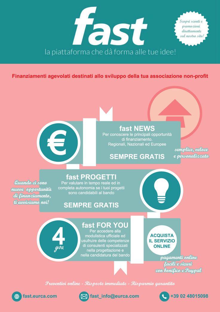 FAST: la tua Associazione non profit cerca bandi di contributo per realizzare progetti? Consultali su FAST http://fast.eurca.com/