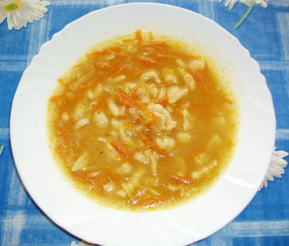 Drožďová polévka s kapáním pro děti