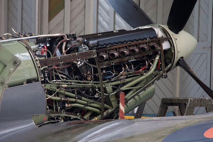 Supermarine Spitfire Rolls Royce Merlin Engine                                                                                                                                                                                 More