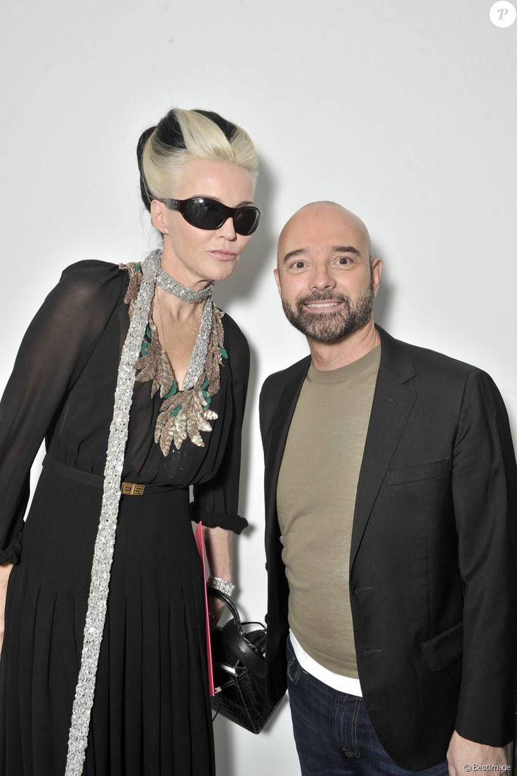 Daphne Guinness et Bertrand Guyon - Défilé de mode Haute Couture Schiaparelli, printemps été 2016, à Paris le 25 janvier 2016. ©Olivier Borde/Bestimage