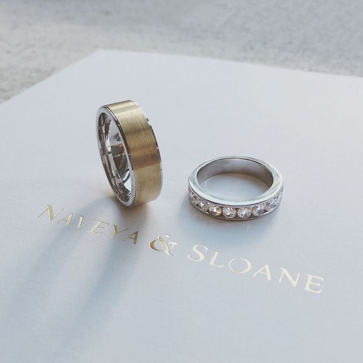 The Channel Set Diamond Band and the Step Band. Naveya & Sloane wedding bands, made to order in Auckland, New Zealand.