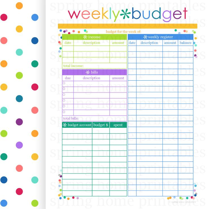 weekly bill organizer - Onwebioinnovate - bill organizer