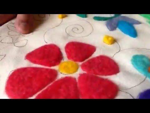 Bordado con Fieltro. Parte 1 - YouTube