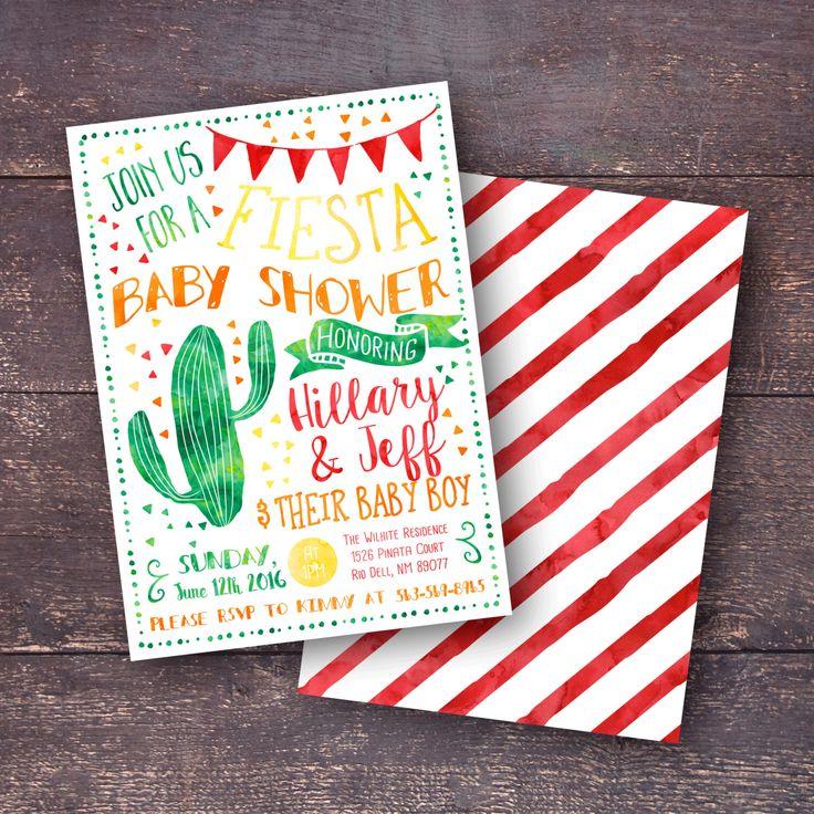 Fiesta Baby Shower Invitation, Fiesta Shower Invitation, Southwest Baby Shower…