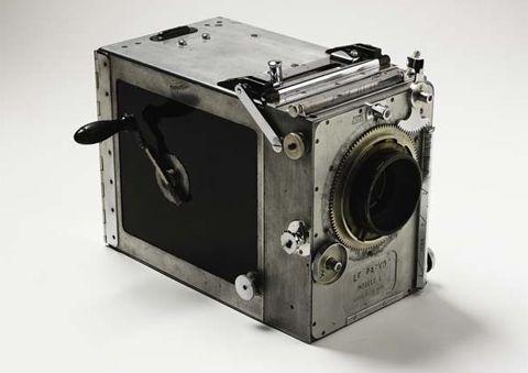 Debrie Parvo model L 35mm hand-crank movie camera used by Frank Hurley. Photo: George Serras.