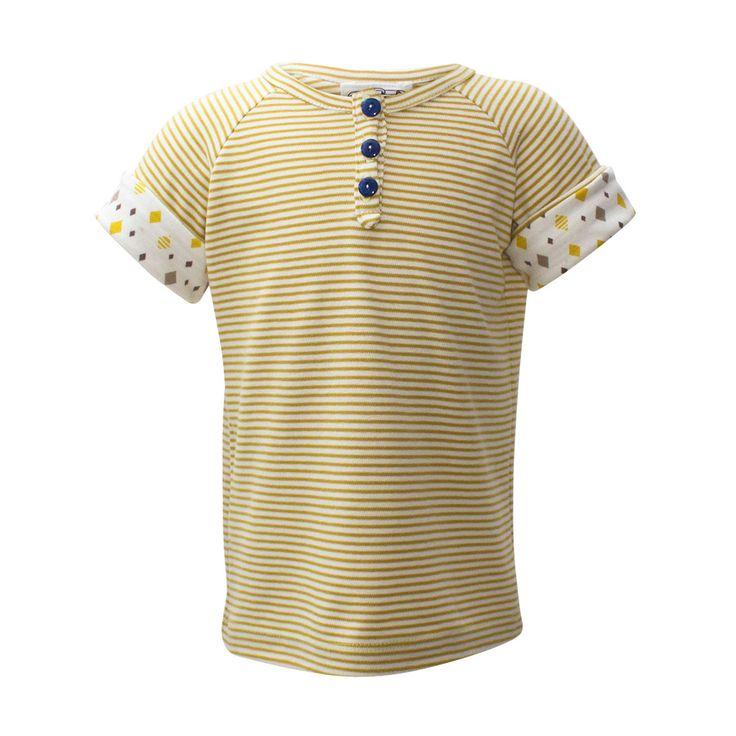 Gold Stripes Short Sleeve [Size Adjustable]