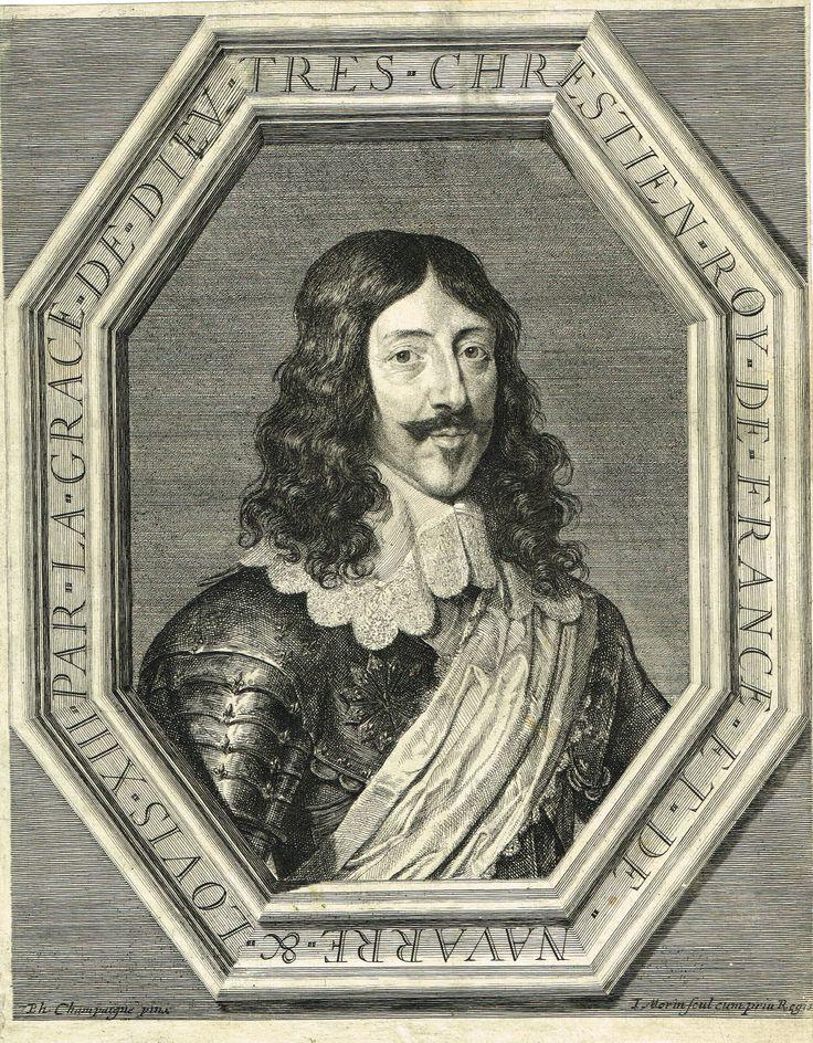 Portrait de Louis XIII gravé par Jean Morin d'après Philippe de Champaigne (1602-1674) - RD n°84