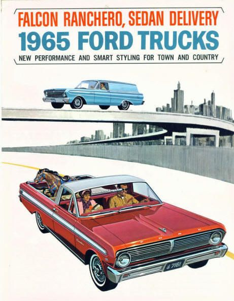 1965 ford ranchero was based on the falcon chassis for a stylish car truck notice ford even made a panel truck version